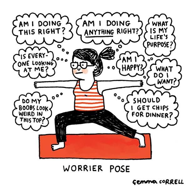 "This illustration inspired the title of this post. Keep reading to learn my tips on moving from ""Worrier"" to  ""Warrior""."