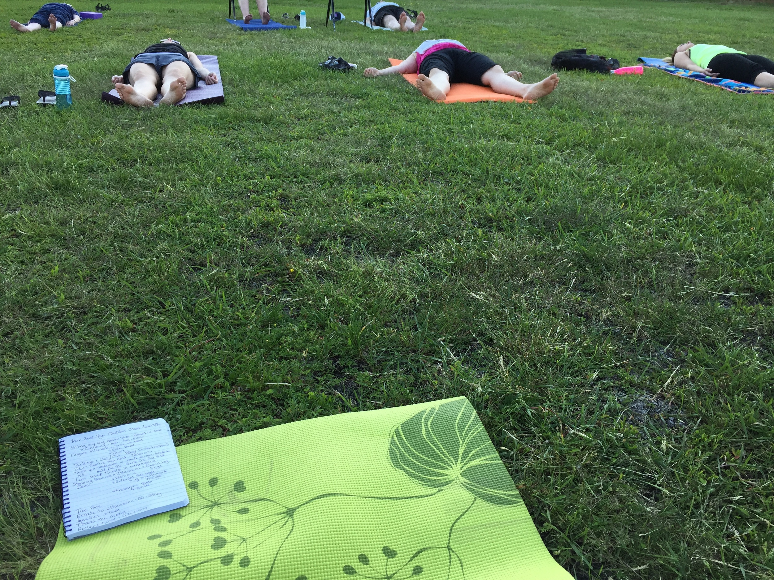 Short Savasana before the mosquitoes came out :)