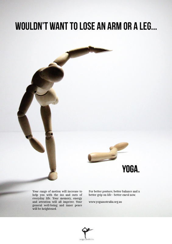 Funny little Yoga ad trying to link mind and body - found  here