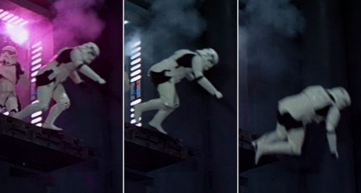 Storm Trooper falling over