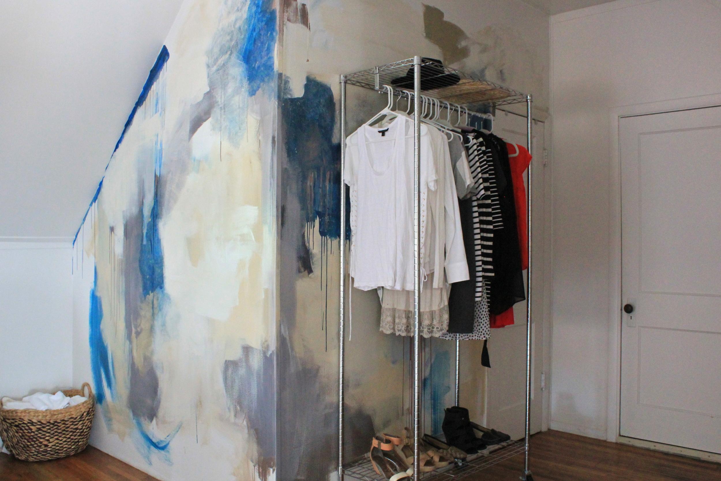 lofted bedroom mural -