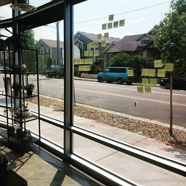 Sometimes windows make the best vision boards. . . #coworkingdenver #coworkdenver #creativestudio #creativecoworking