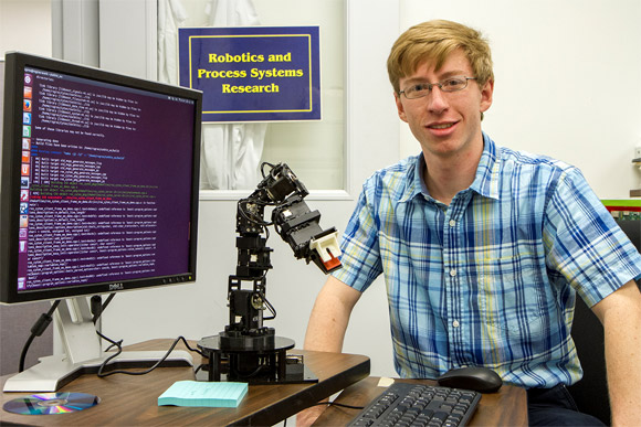 Undergraduate engineer improves technology used for robotic arm movements