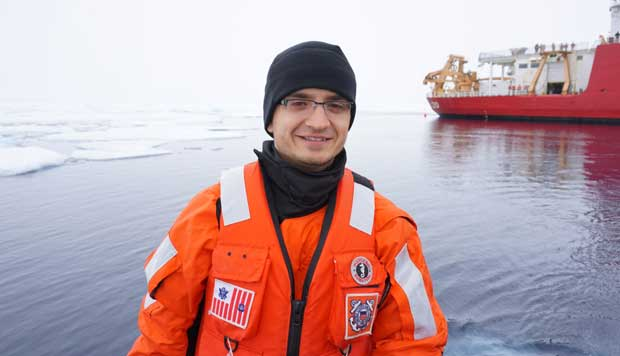 Spending 18 days on the Arctic Ocean to aid U.S. Coast Guard data collection efforts