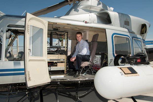 Ensuring data quality of a new airborne radiation detector for the land and sky
