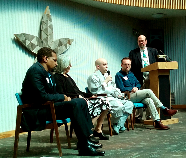 A panel consisting of Baha'i, Buddhist, Christian, Humanist and Muslim faith traditions fielded questions and commented on their faith's version of the Golden Rule