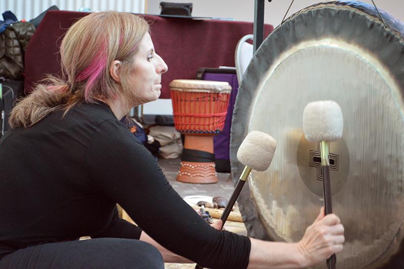 Patti Pellerito in the Fuller Dome