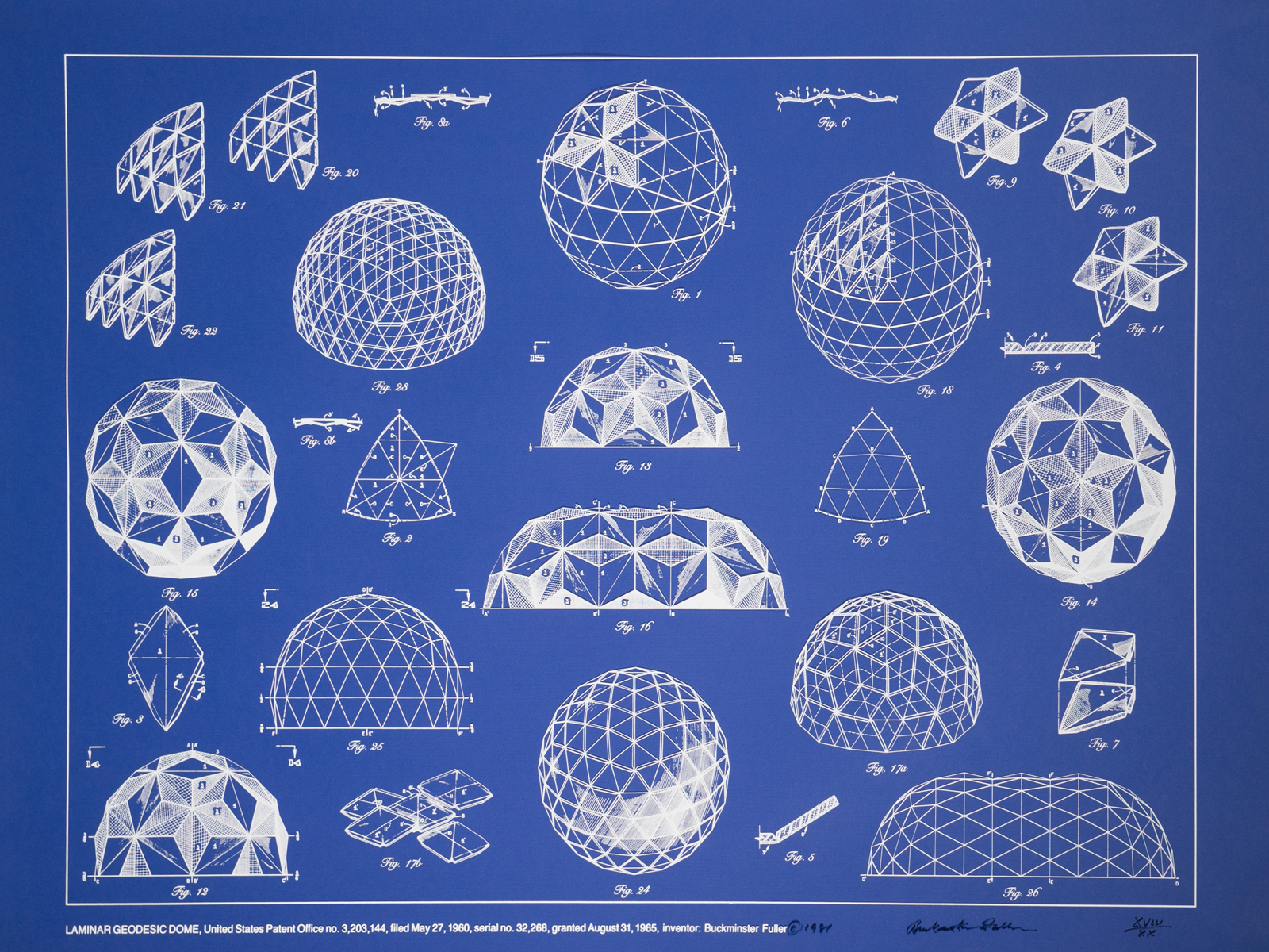 Bucky's Geodesic drawings art print