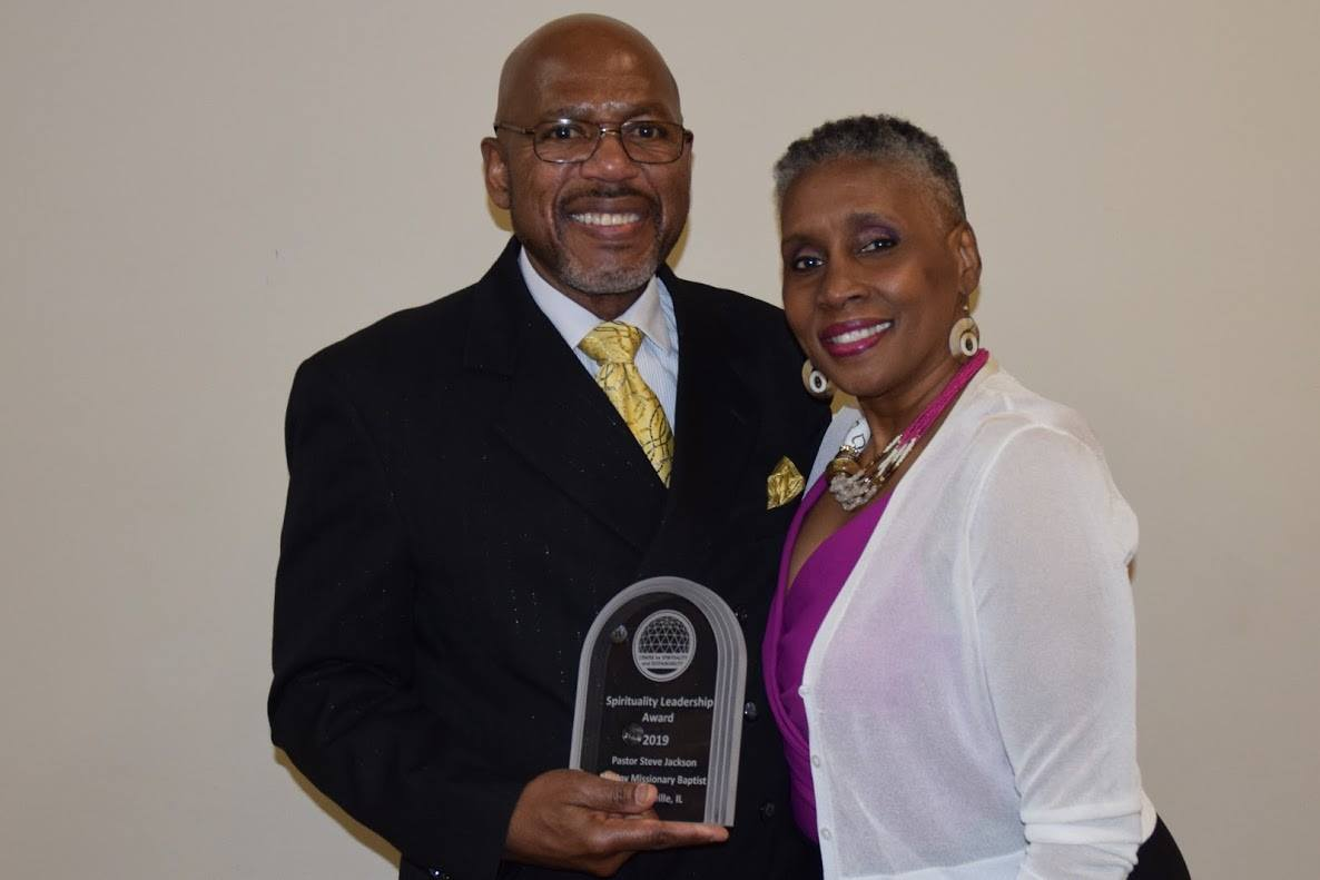 2019 Spirituality Award Winner, Rev. Steve Jackson and his wife Linda Jackson of Mt. Joy Baptist Church