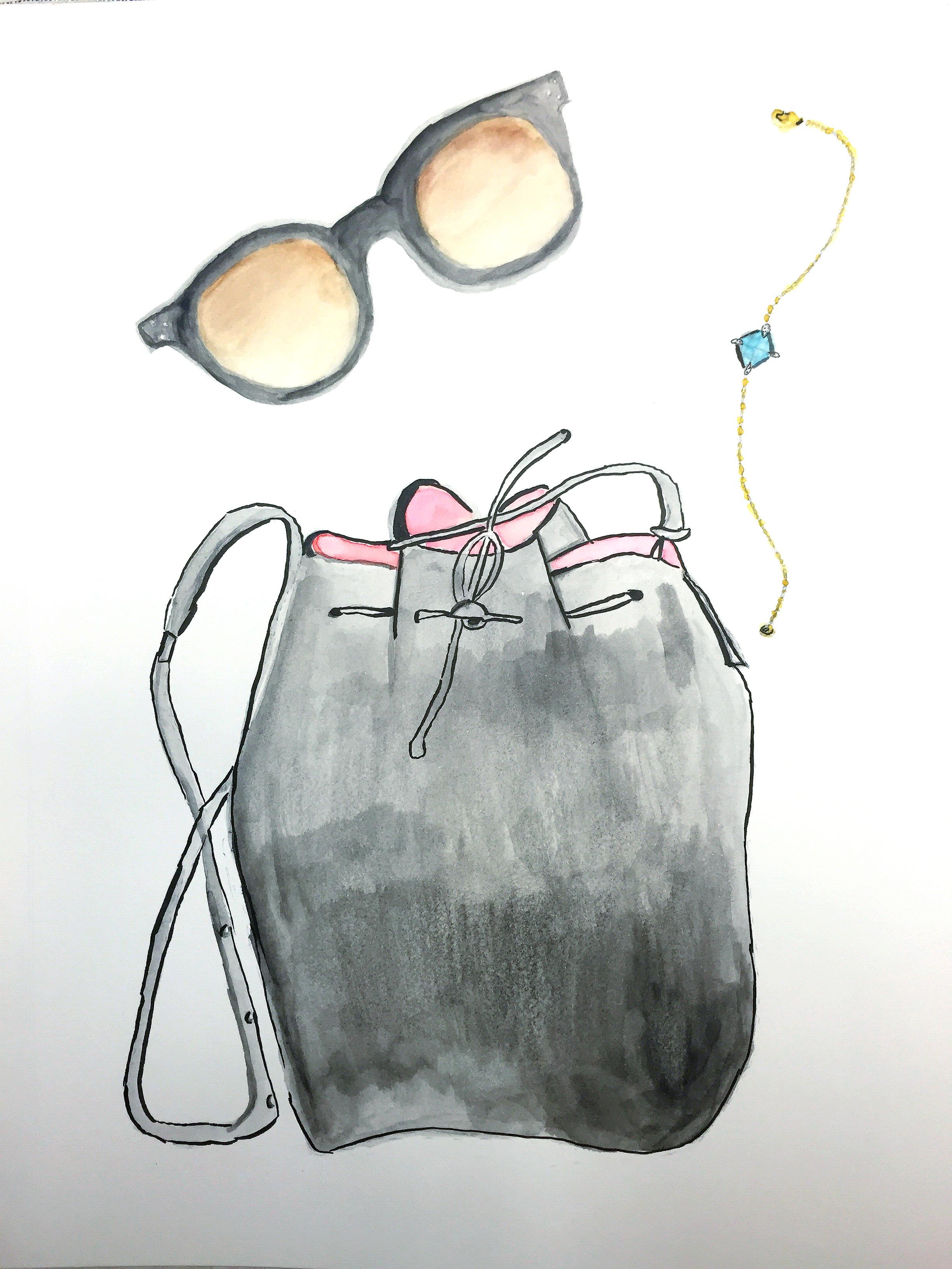Mansur Gavriel Bag ,  David Yurman Bracelet ,  Celine Sunglasses