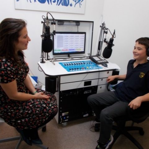 Radio interview at  Pakeman Primary School