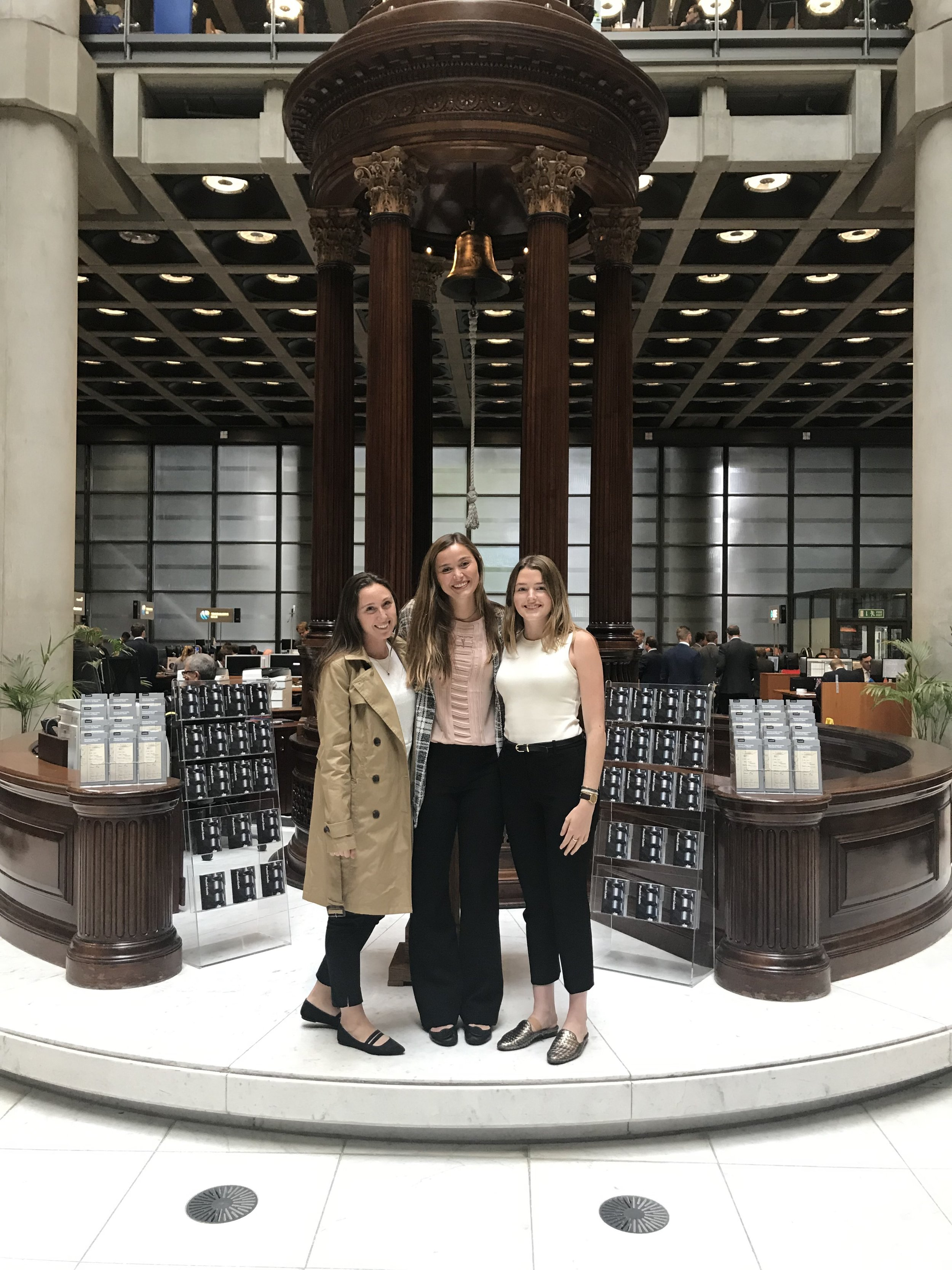 Melanie, Jackie and Lily at Lloyd's of London.
