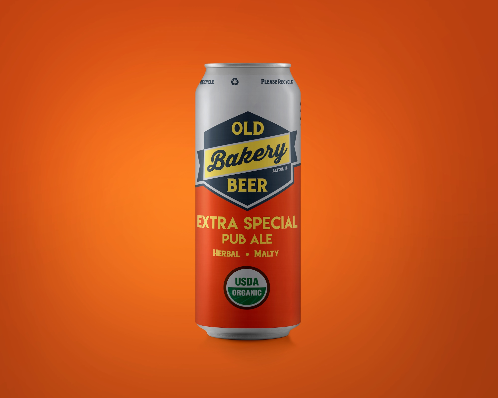 Old Bakery Beer Co craft beer cans designed by Hagan Design Co Champaign Illinois