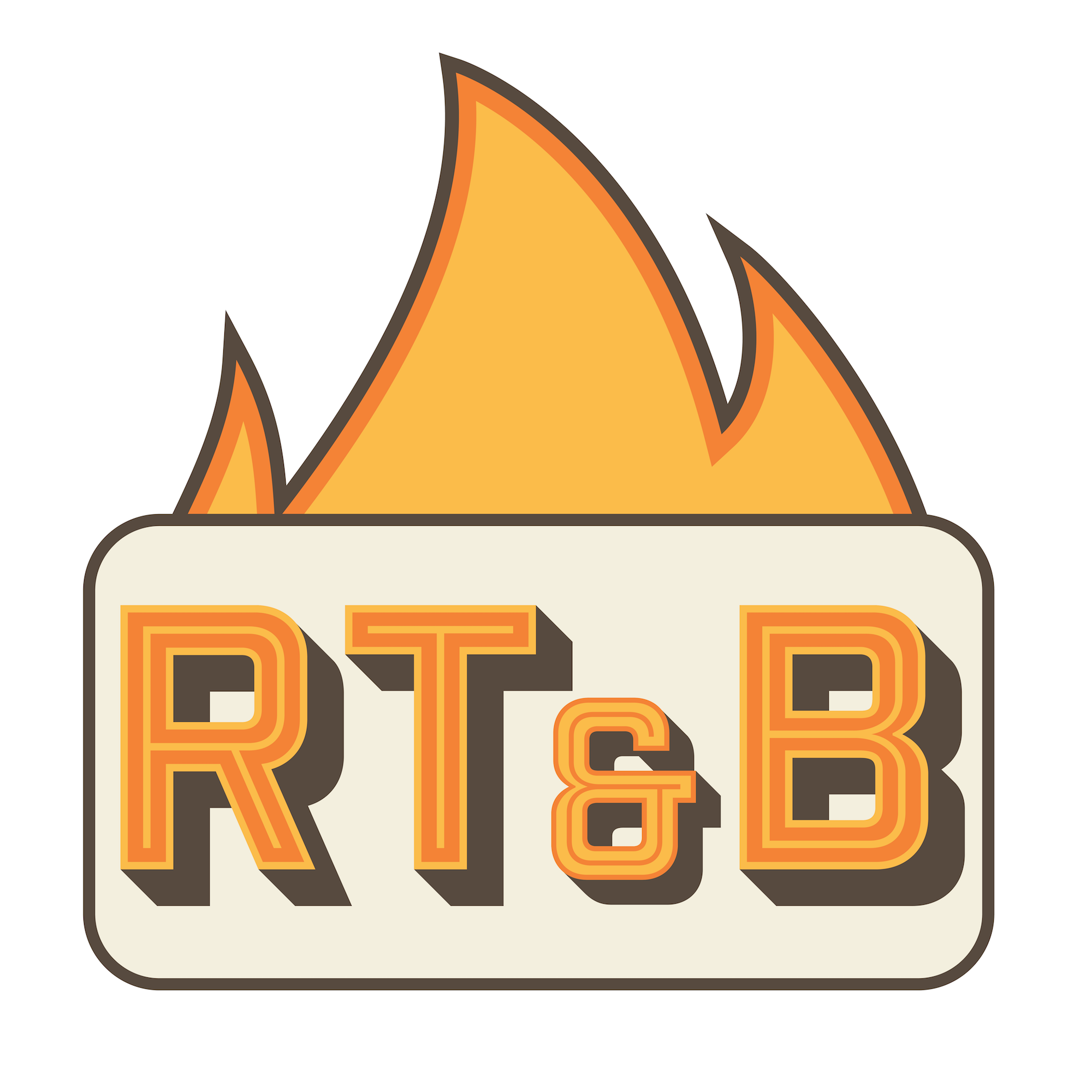 Roasted Toasted Baked food truck logo design Lafayette Indiana designed by Hagan Design Co Champaign Illinois