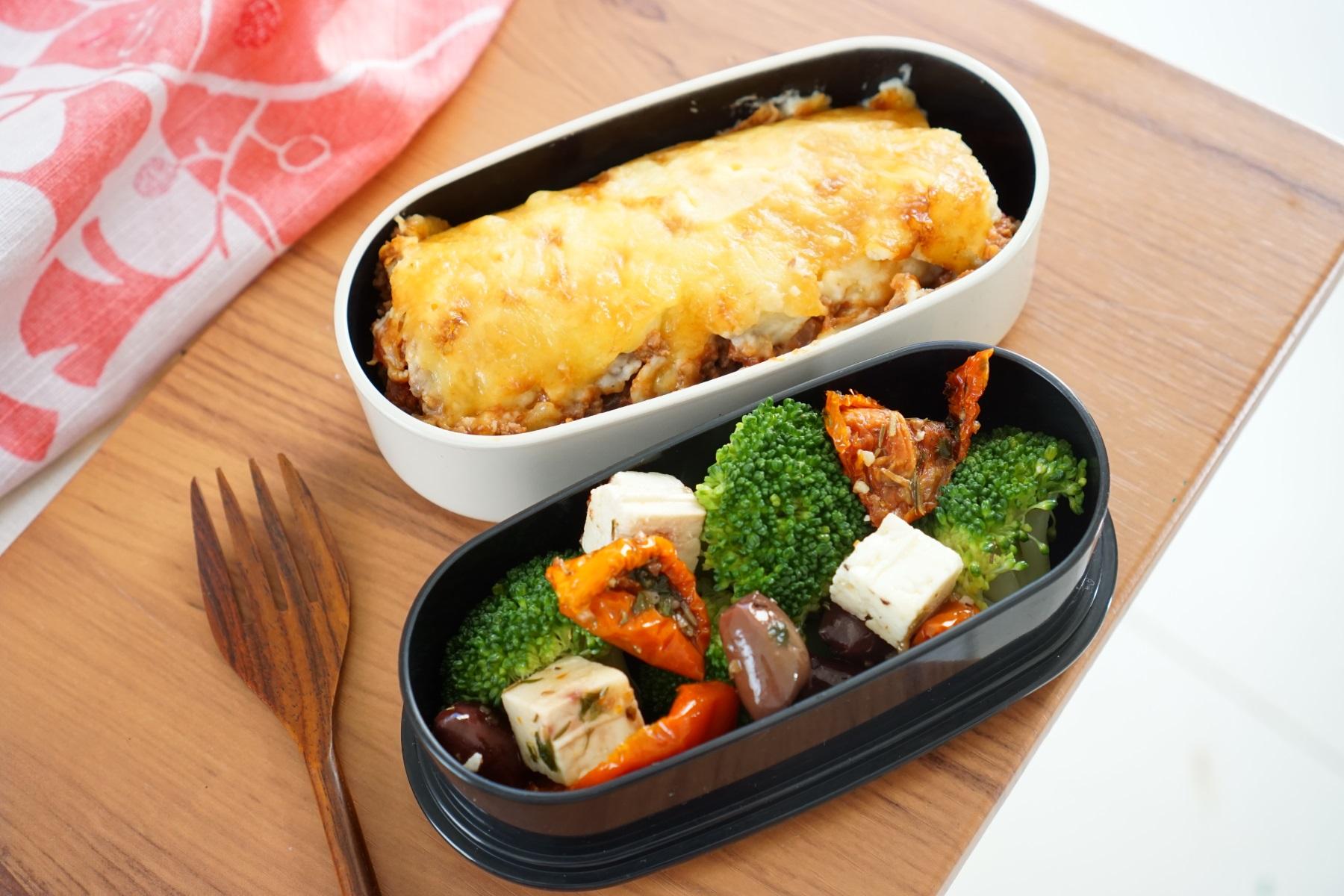 22th Friday  Lasagna and salad Bento