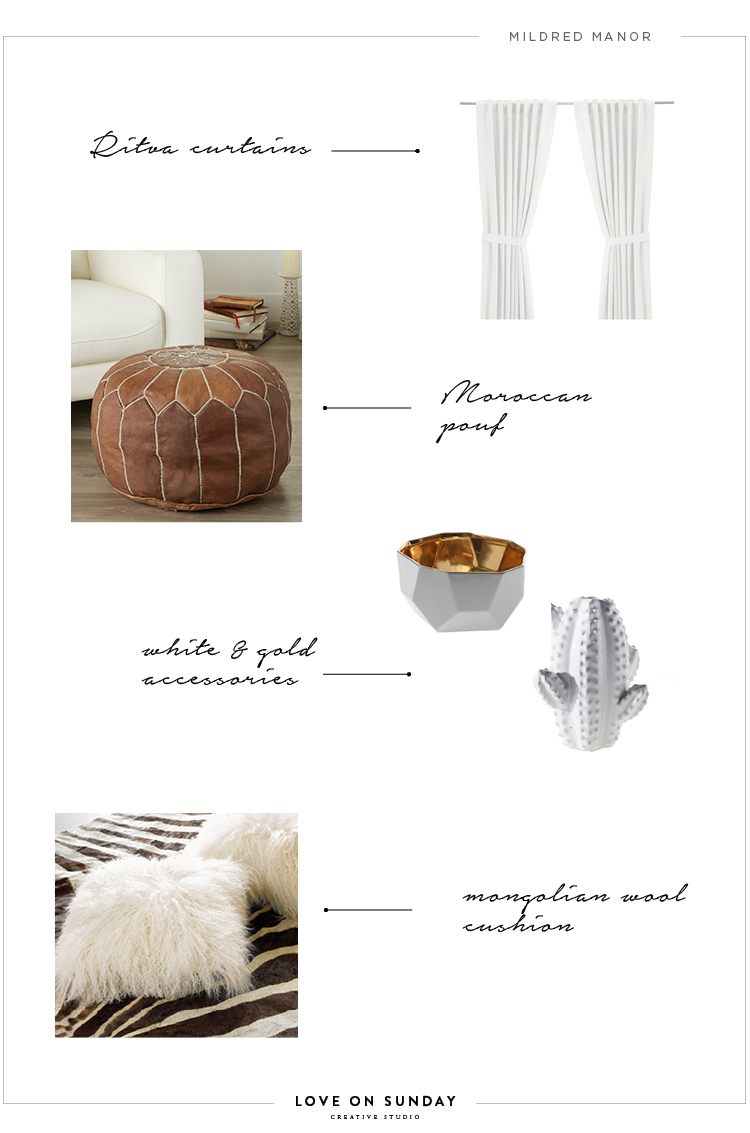 IKEA curtains   |   Moroccan pouf   |   Grace Pot   |   Cactus Vase   |   Mongolian Wool Cushion