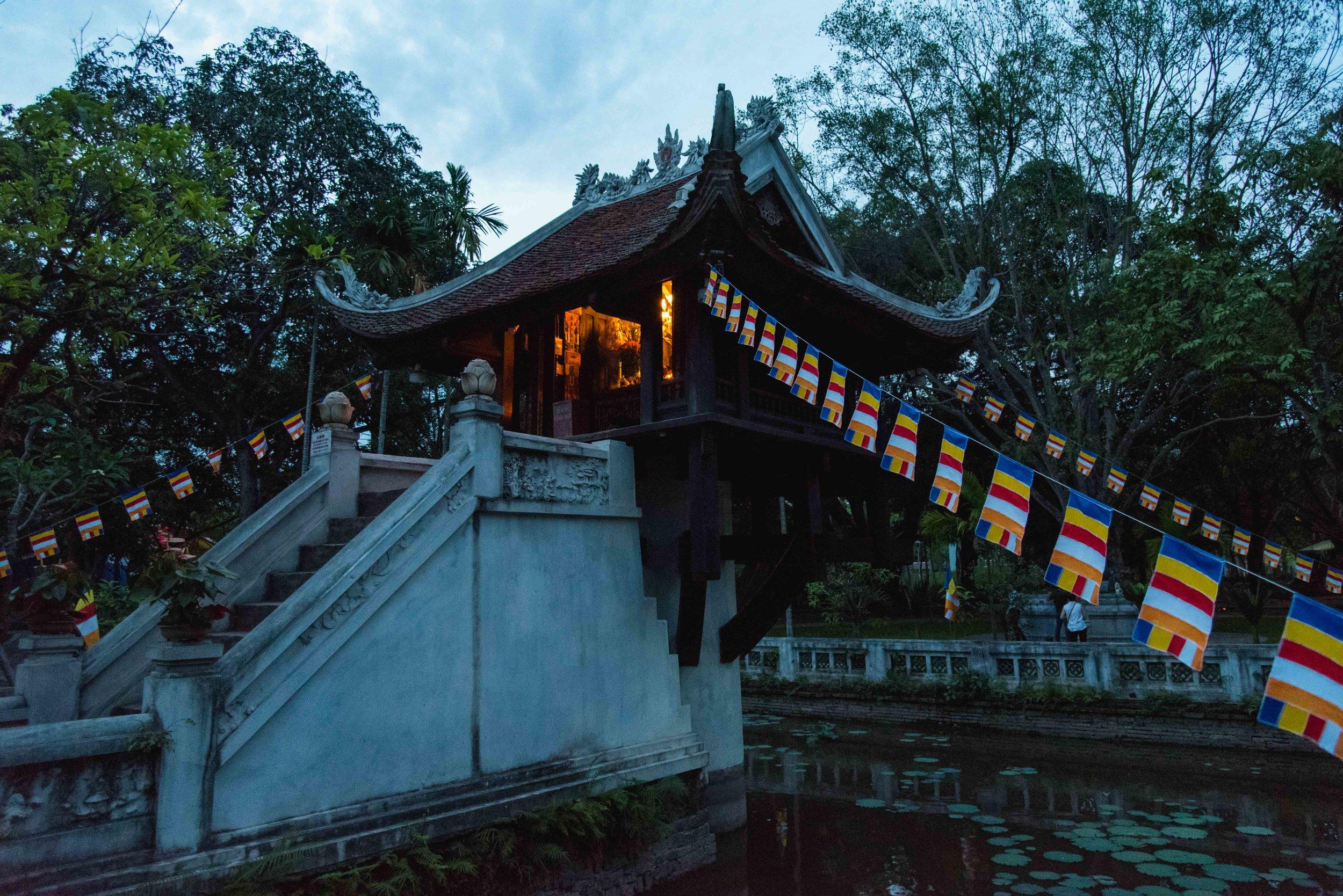 One Pillar Pagoda.