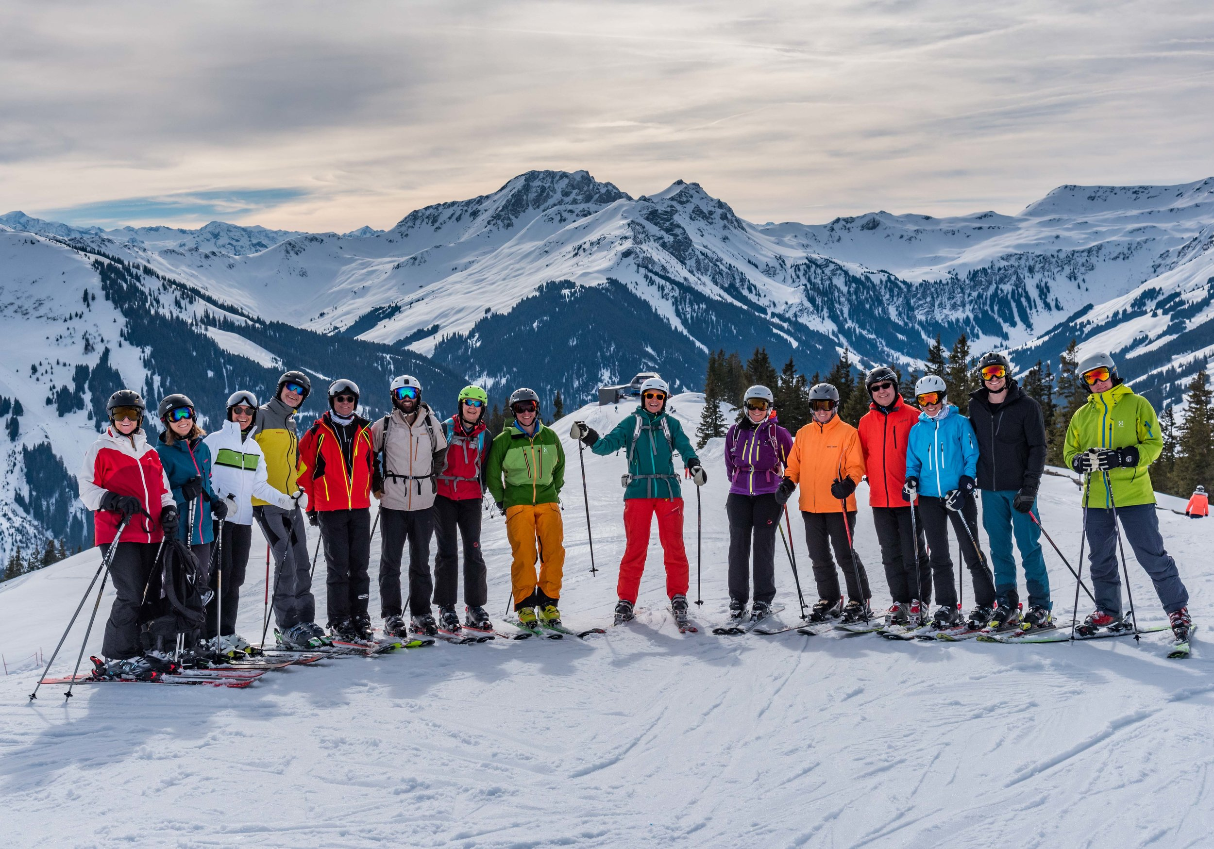 The ski gang.