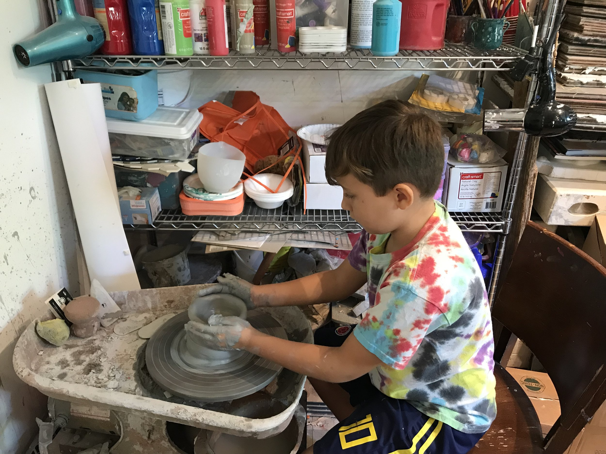 Our daily classes at the Art Factory provide a variety of artistic mediums for children ages 5 and up! Learn more and sign up for a free trial class today!