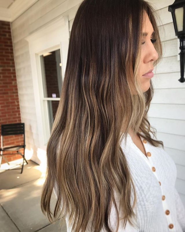 Full head of babylights & lowlights to hell breakup her existing balayage. I also toned down the sections that were not in fouls to help eliminate any unwanted brass 💕 @maggiedata . . . . . #hairstyles #modernsalon #hairpainting #blondehair #makeup #behindthechair #balayage #highlights #hairgoals #beauty #instahair #love #longhair #hairoftheday #ombre #hairstylist #naturalhair #olaplex #hairdresser #haircolor #hairstyle #redken #hairinspo #hair #babylights #americansalon #fashion #style #haircut #blonde
