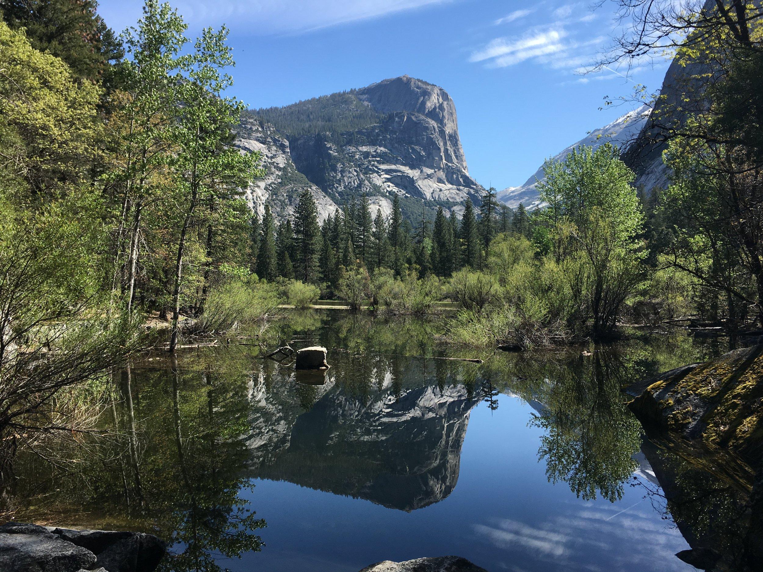 Mirror Lake, at the start of my Yosemite backpacking trip