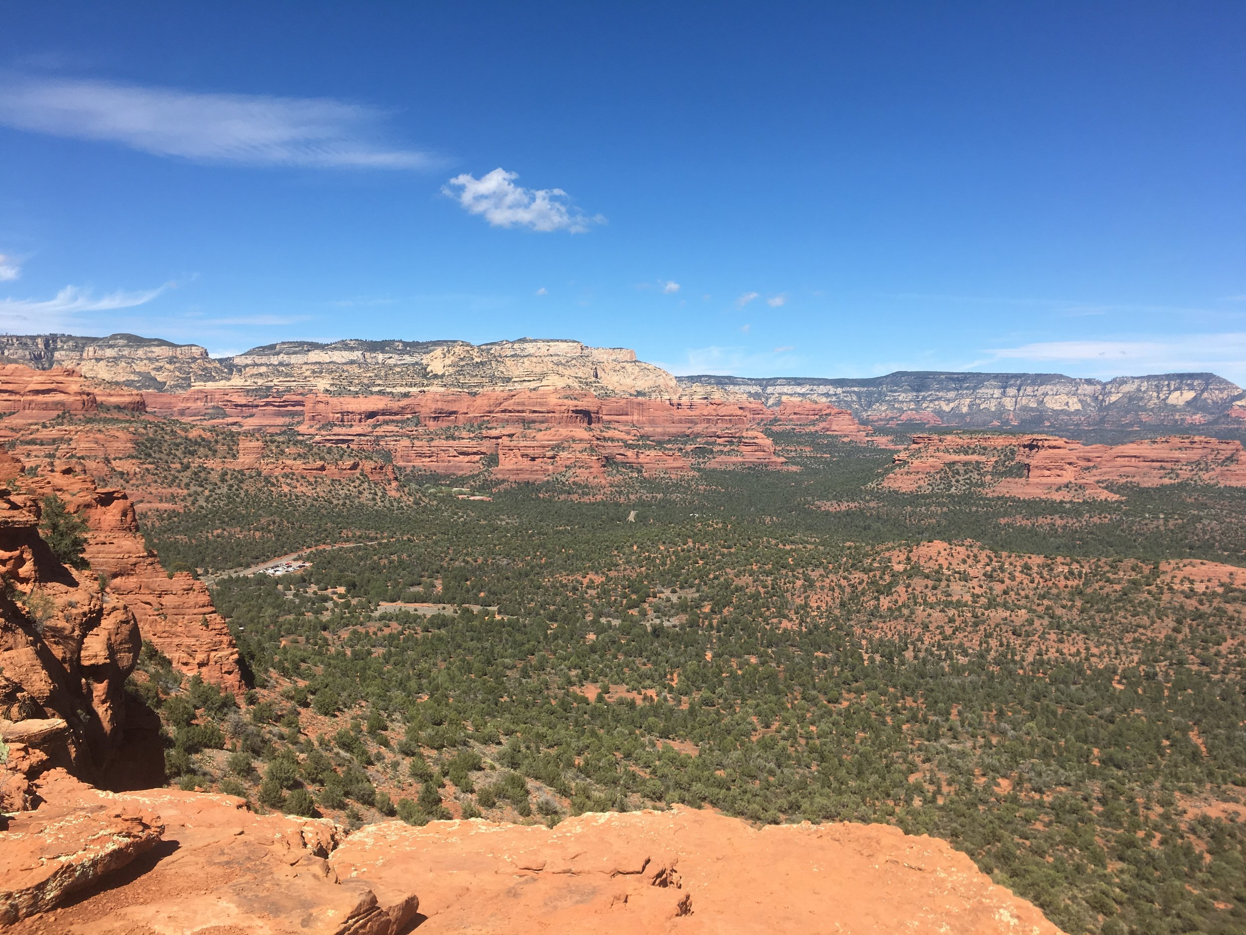 View from atop a hike in Sedona, AZ