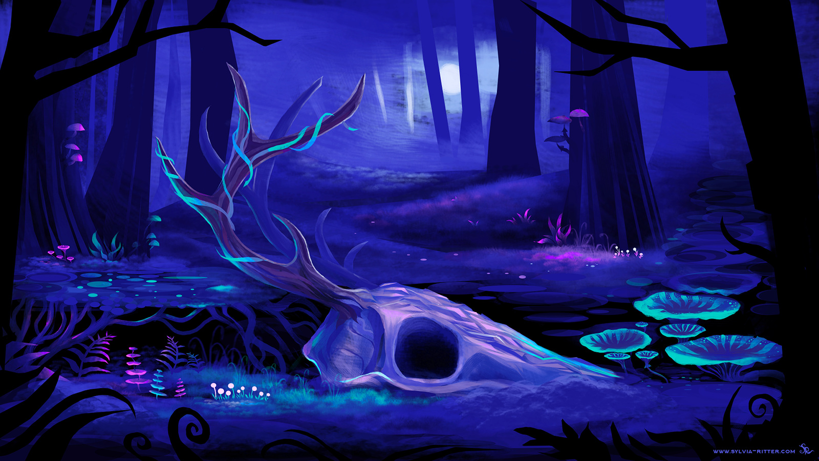 Enchanted Forest - Game Concept Art