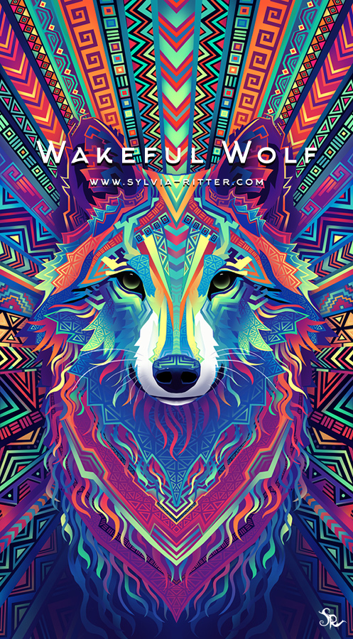 Wakeful Wolf - Tattoo Commission for Dylan Matveev