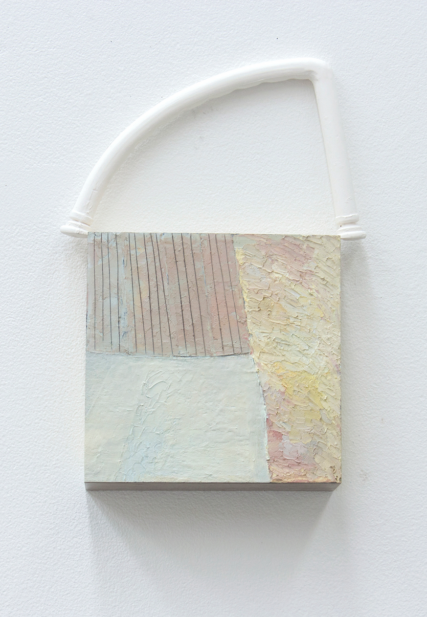 Untitled 2014  Oil, wood, and clay  14 x 2.5 x 8 inches