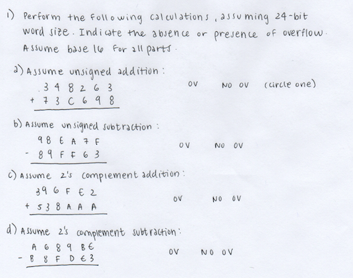 Hexadecimal Addition/Subtraction and 2's Complement — Penji