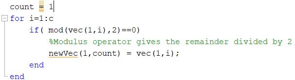 Matlab Basics: Parsing Vectors in For Loops — Penji - College