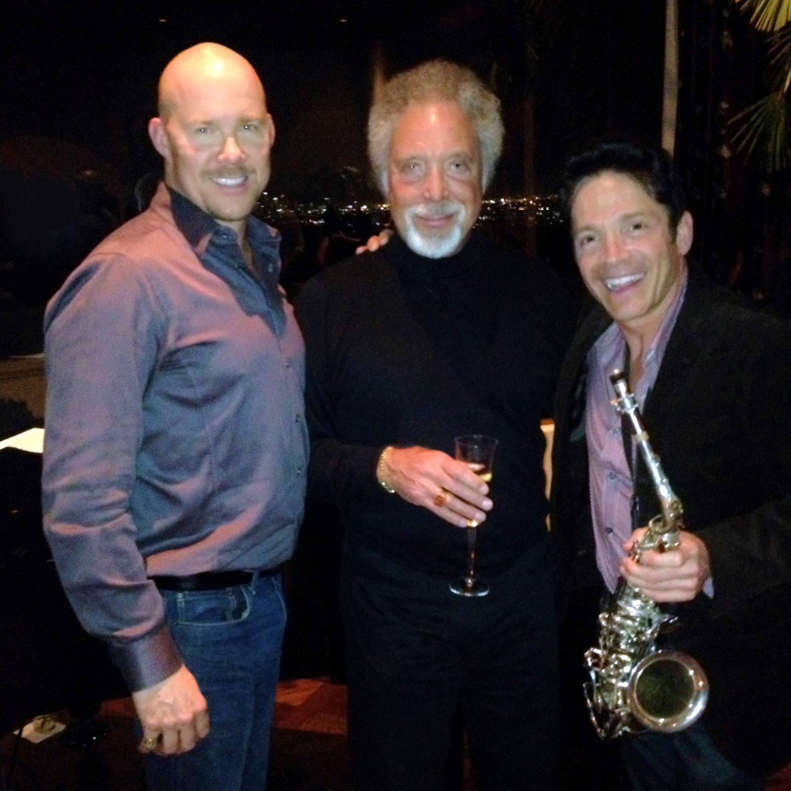 Todd with Tom Jones & Dave Koz