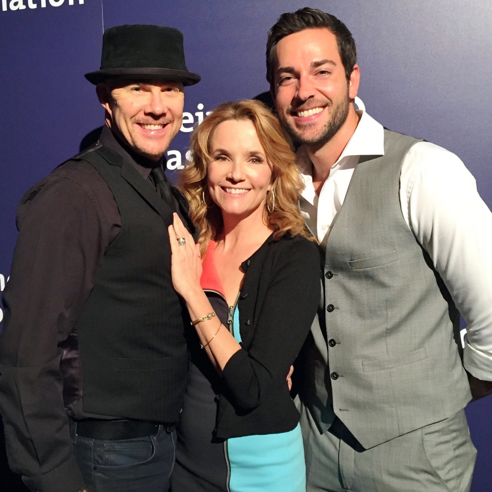 Todd with Lea Thompson and Zachery Levi