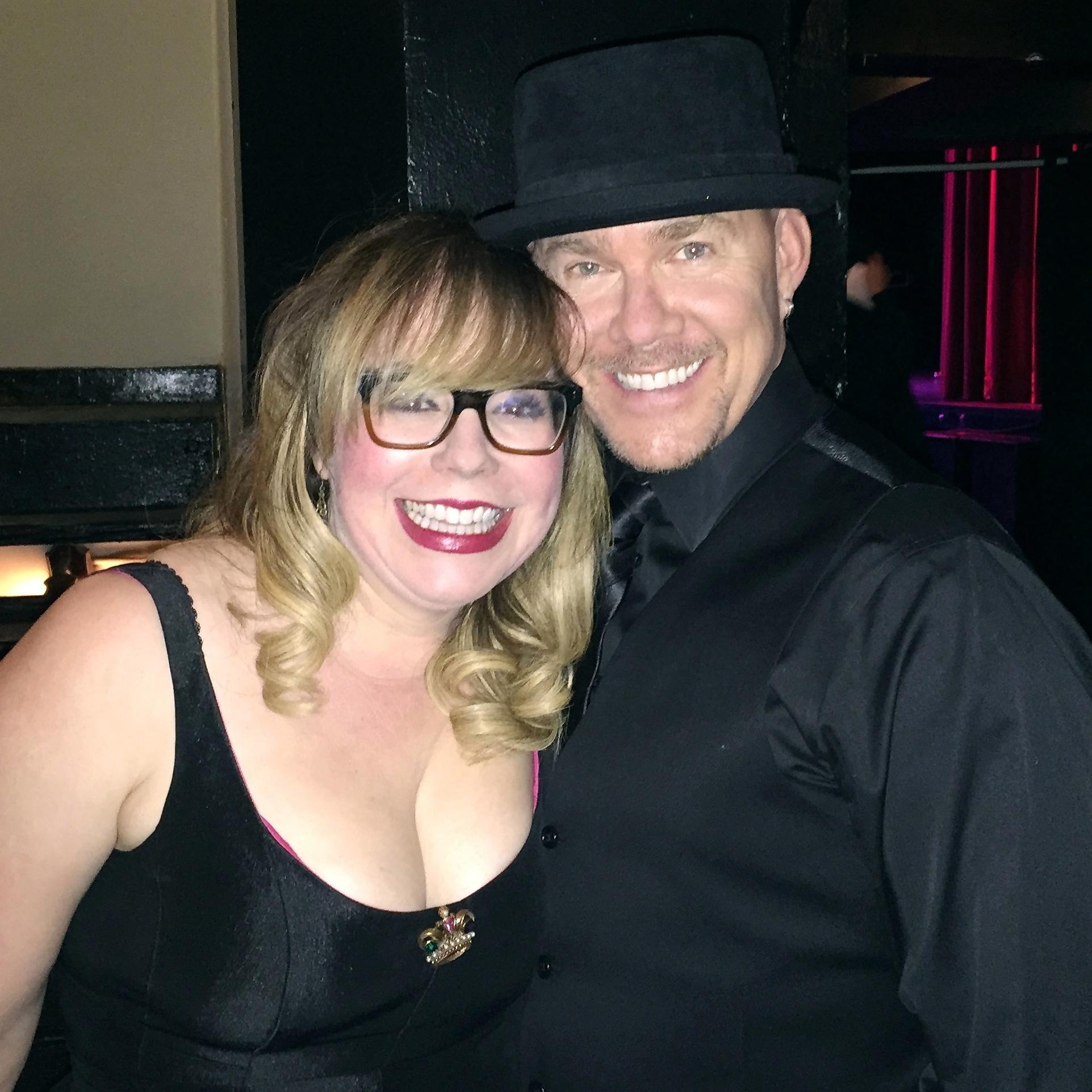Todd with Kirsten Vangsness