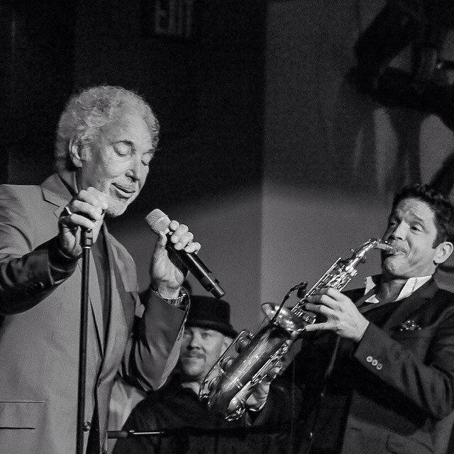 Todd with Tom Jones and Dave Koz