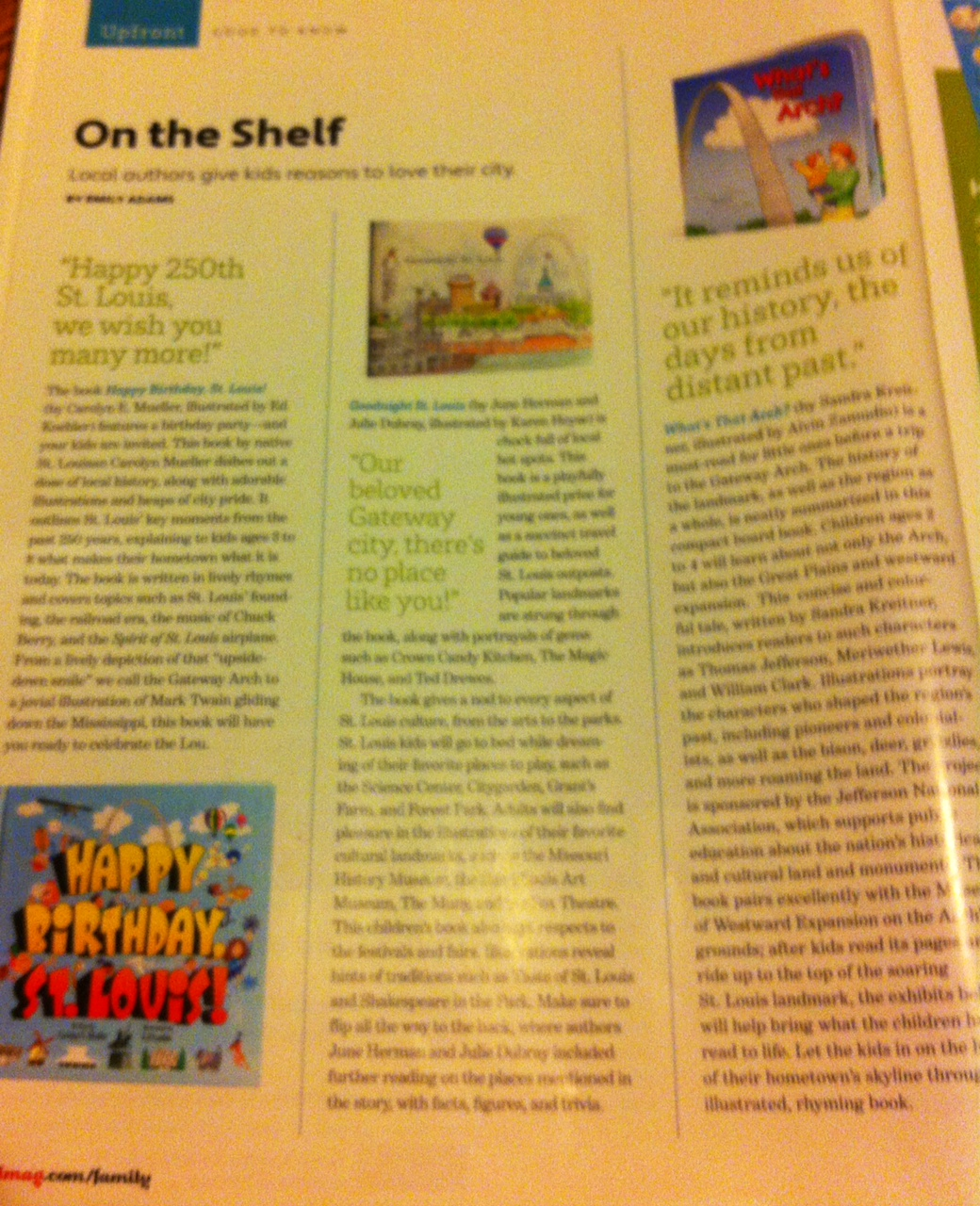 """Check out """"Happy Birthday, St. Louis!"""" featured in St. Louis Magazine!"""