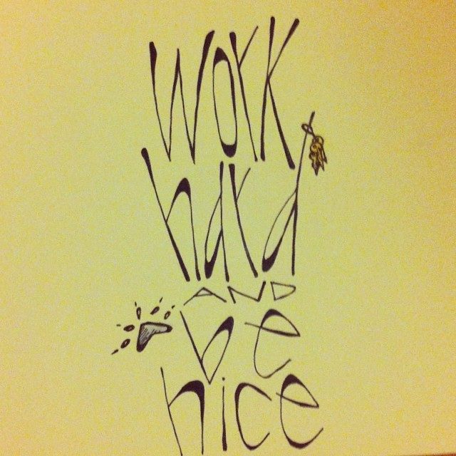 "Last day of #nzkw! So, finally, the last page of the #khakishorts mini book! Lesson #6 is quite simple: ""Work hard and be nice."""