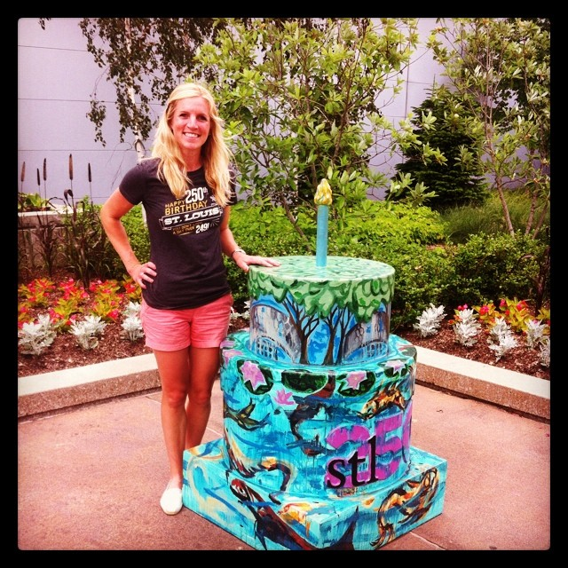 Found a beautiful cake at the Botanical Gardens book signing! #stl250 #botanicalgardens #hbdstl