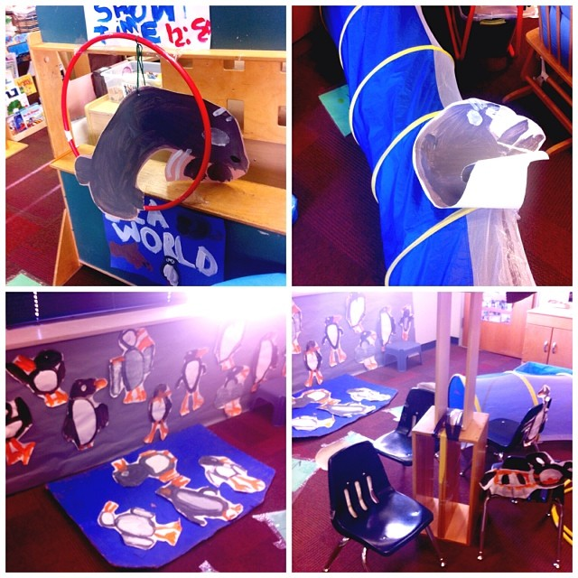 Rockwood preschool's sea lion show, sea lion tunnel, penguins and carousel