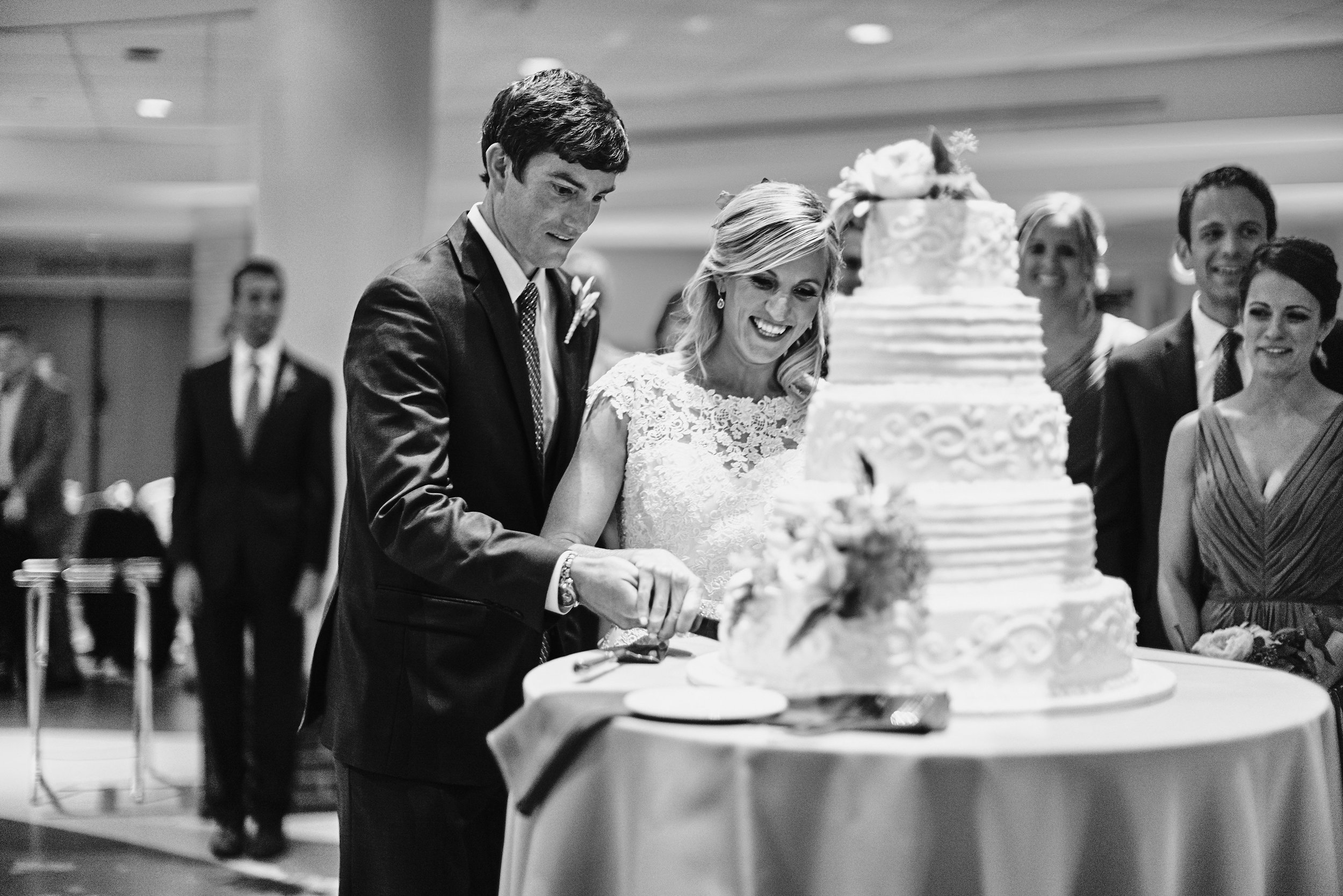 "This picture so perfectly captures our relationship. I'm all like ""Yes! Cake! Let's do this!"" and John's like ""Ok, careful, easy does it..."""