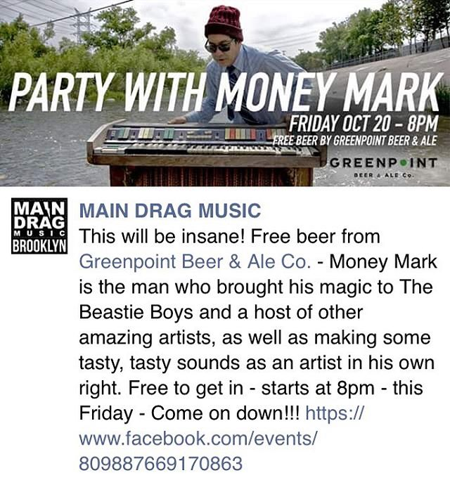 Party 🎉 with the main man @moneymarkinc this Friday in New York