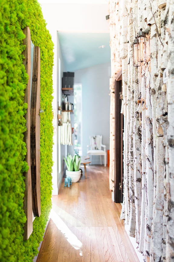the magic hallway at Articulture Designs boutique.  photo by: Twin Lens Weddings
