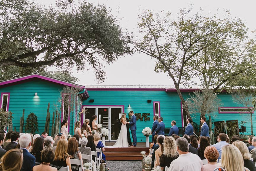 1 of 2 wedding ceremony decks at Articulture Designs in Austin, TX | photo by: Briana Purser Photography