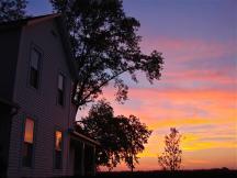 Nachusa Farm House a Sunset