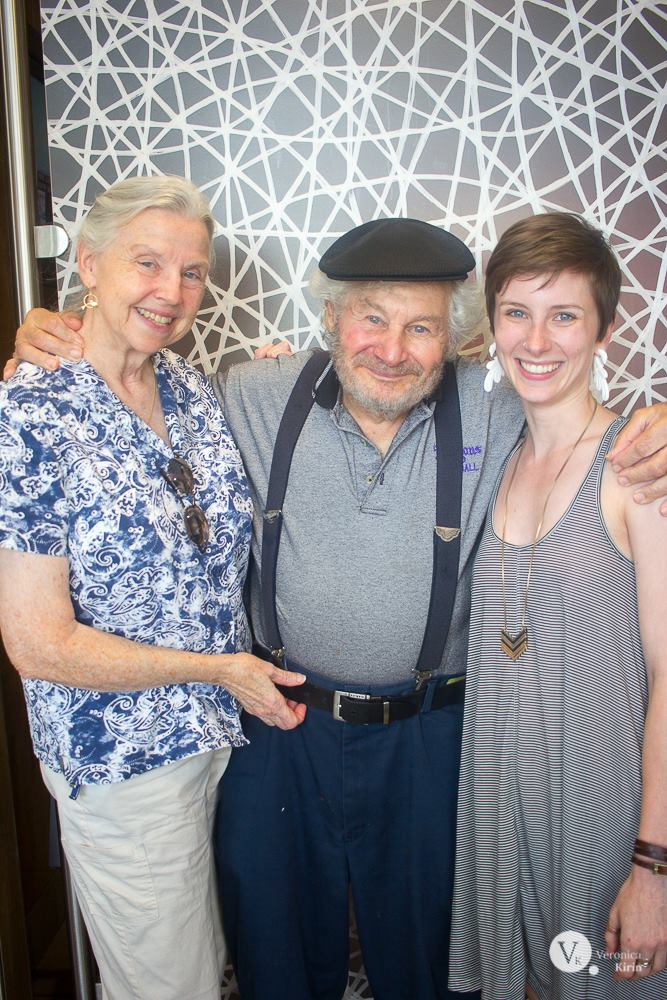 Veronica (right) with Dagmar and John Booth in New Orleans