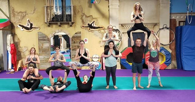 Did you hear? Acro Jam tonight from 7-10pm, ACA. Cost is $5, grab a friend and come play!⠀ •⠀ •⠀ #acro #acroyoga #acrobatics #circus #fitness #acrofit #circusfitness #yoga #partneryoga #partneracrobatics #bodyweighttraining #calisthenics #flexibility #balance #strength #circusaroundtheworld