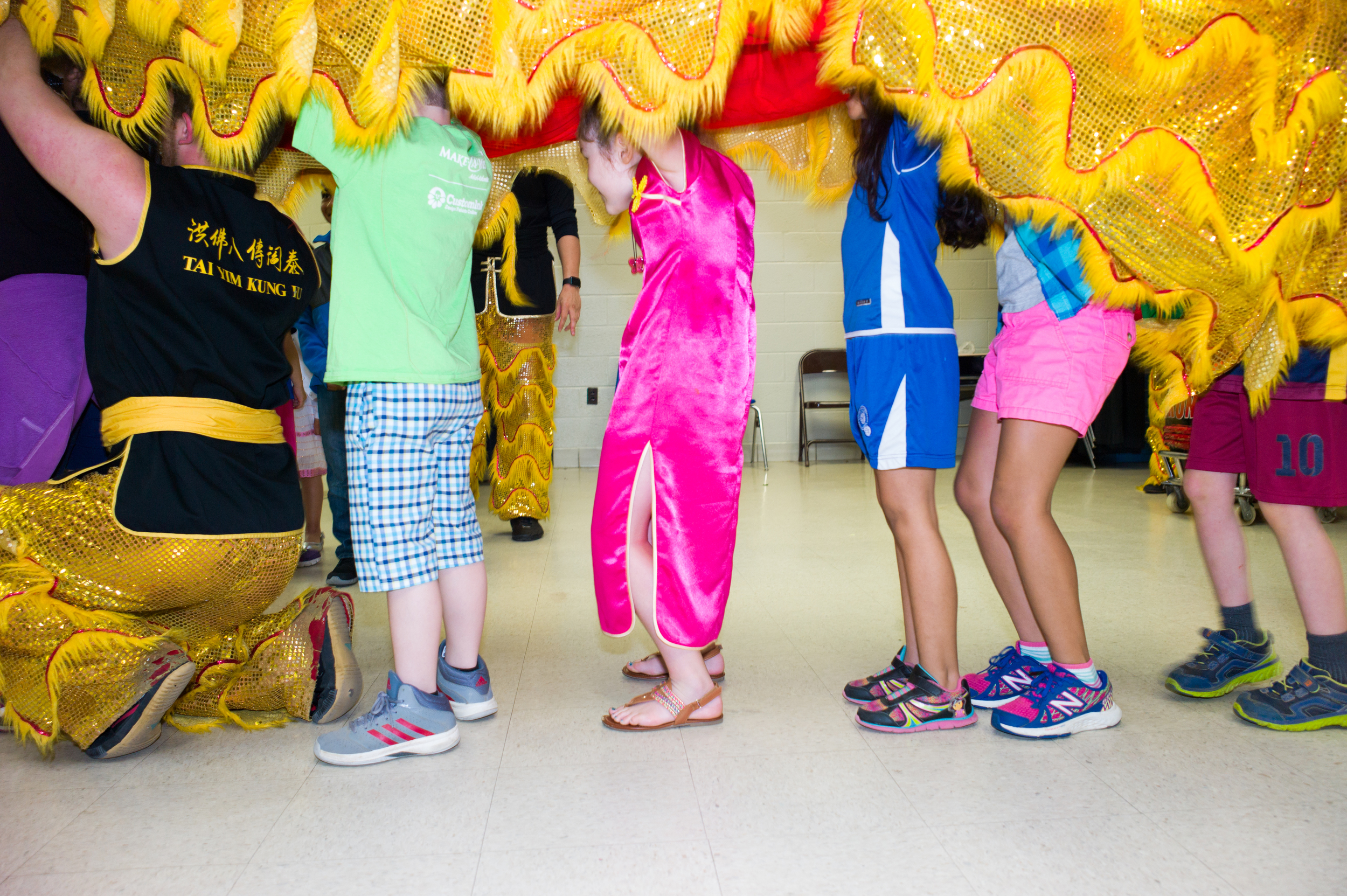 Even the kids got to try out the Lion Dancing.