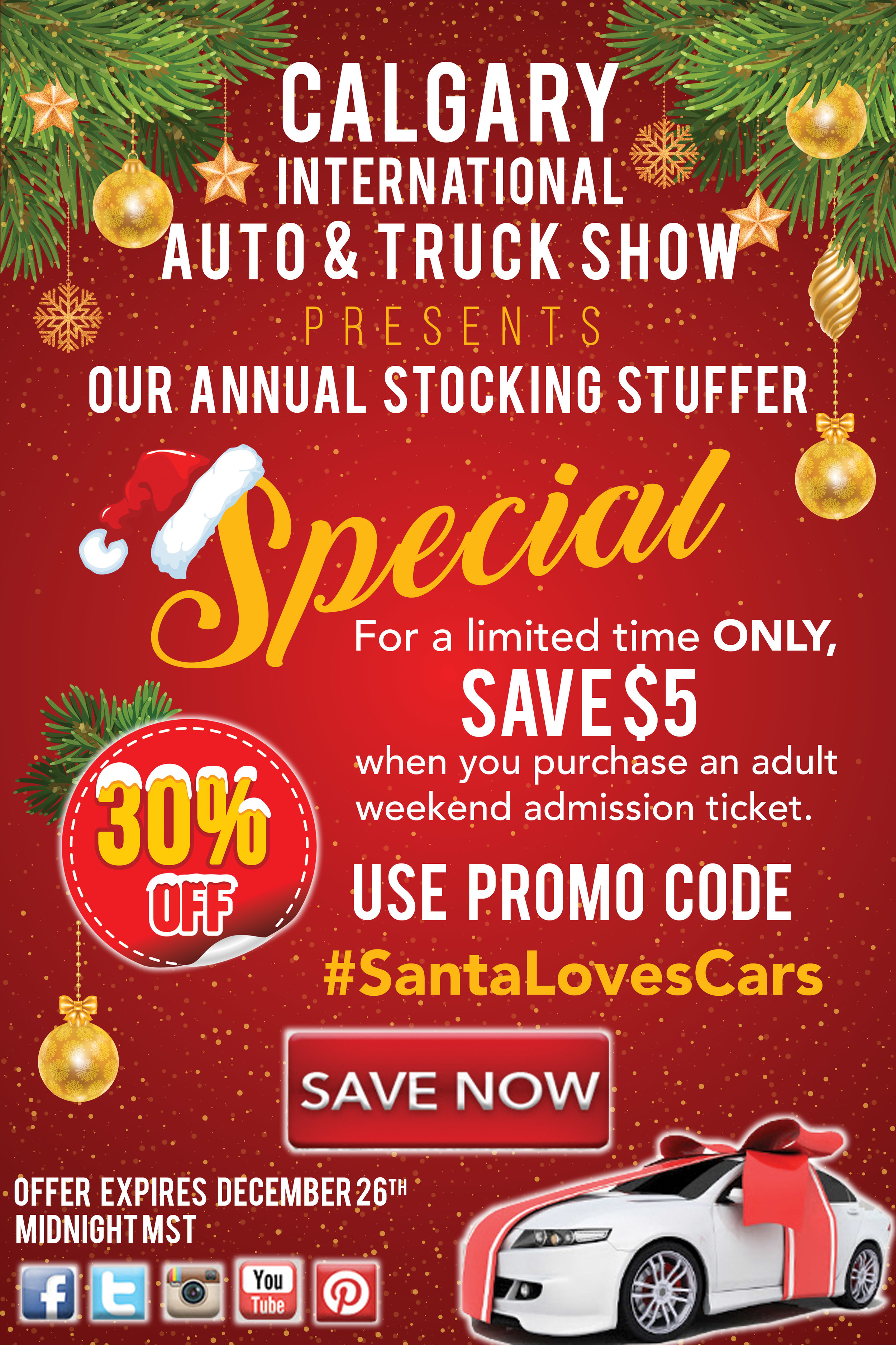 Calgary International Auto And Truck Show Stocking Stuffer Promotion