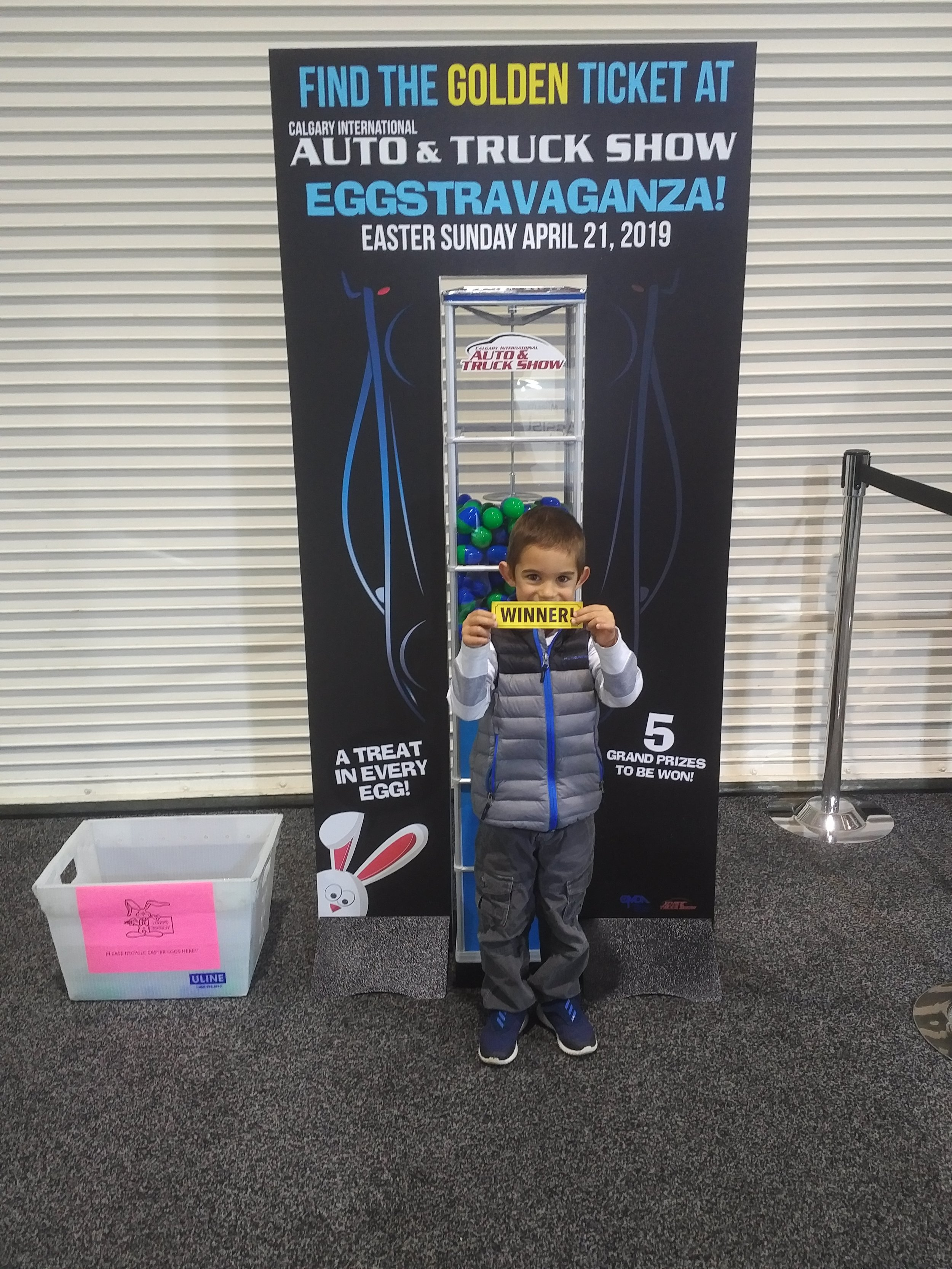 Calgary International Auto Show Easter Winner