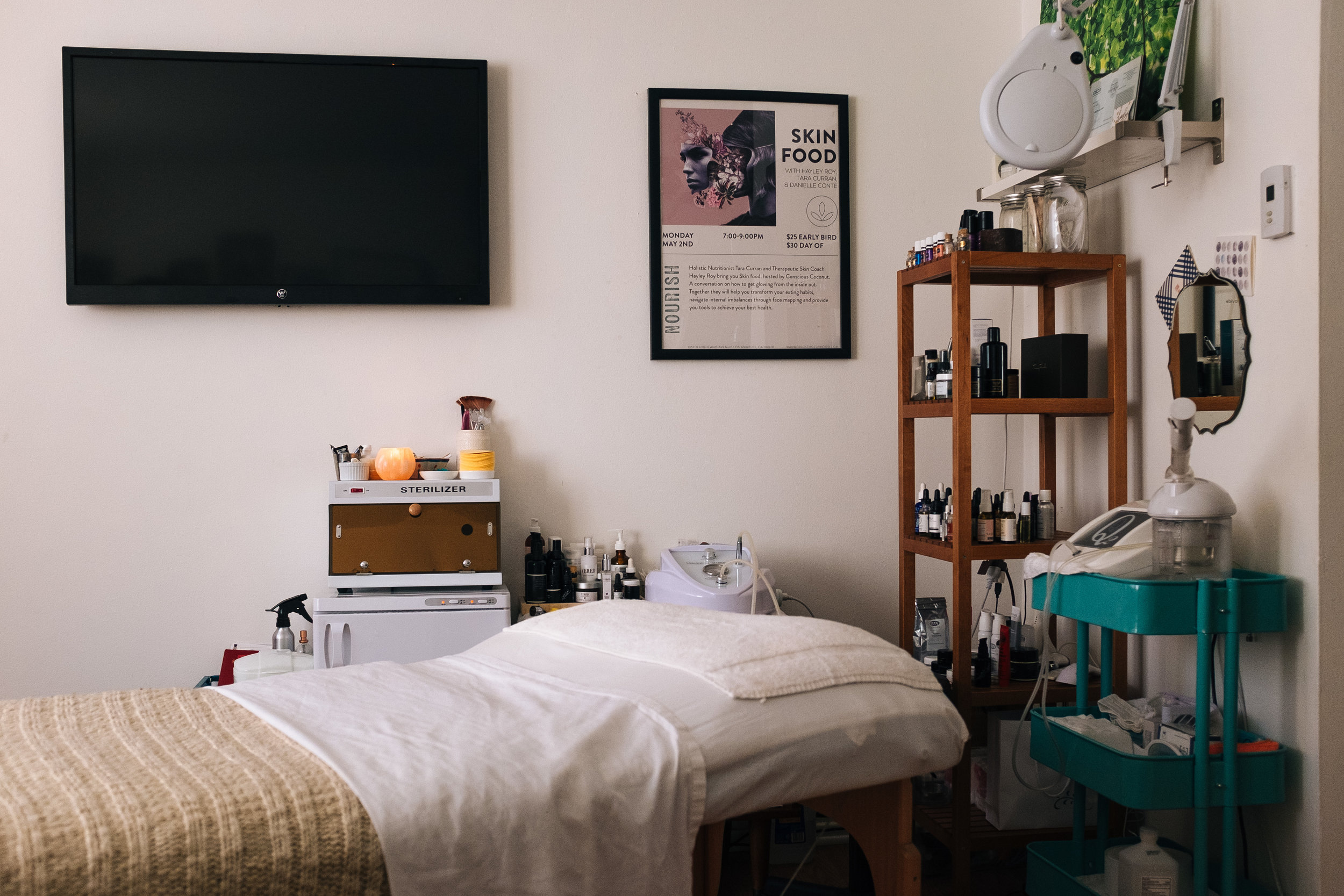 My first Therapeutic Skin Coach space, in our living room of our old apartment.